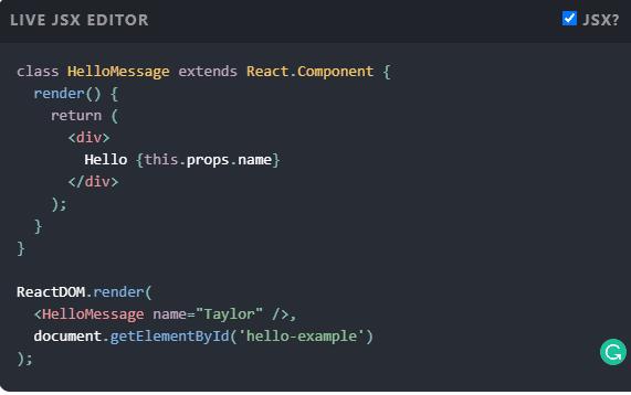 Reagire JavaScript Framework