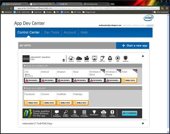 App Dev Center