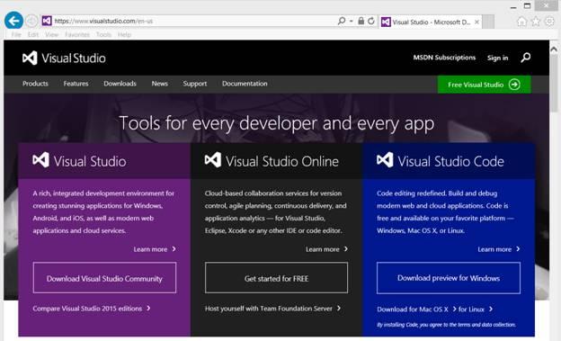 Visual Studio Community Edition Install