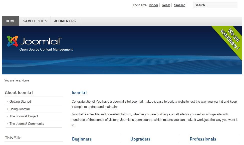 Fresh Joomla Install