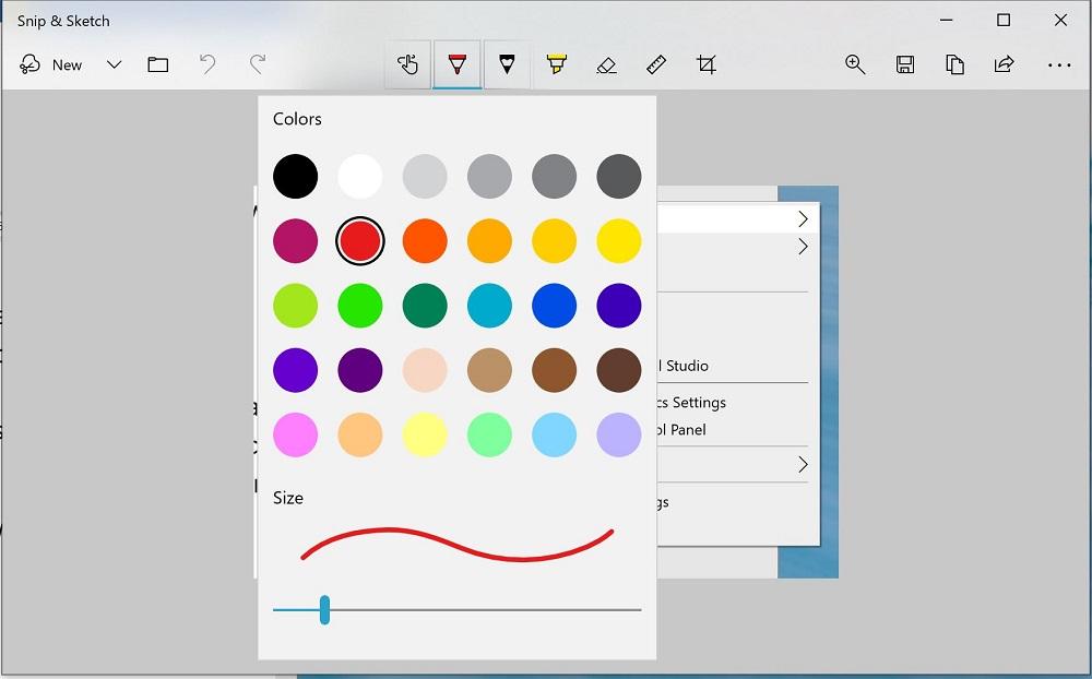 Setting color for ballpoint pen