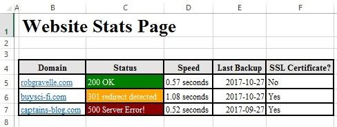 webstats.xlsx spreadsheet on Windows 10