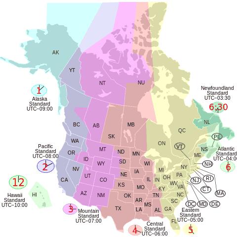 Canada and USA Savings Time JavaScript