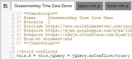 Blocco metadati in JavaScript