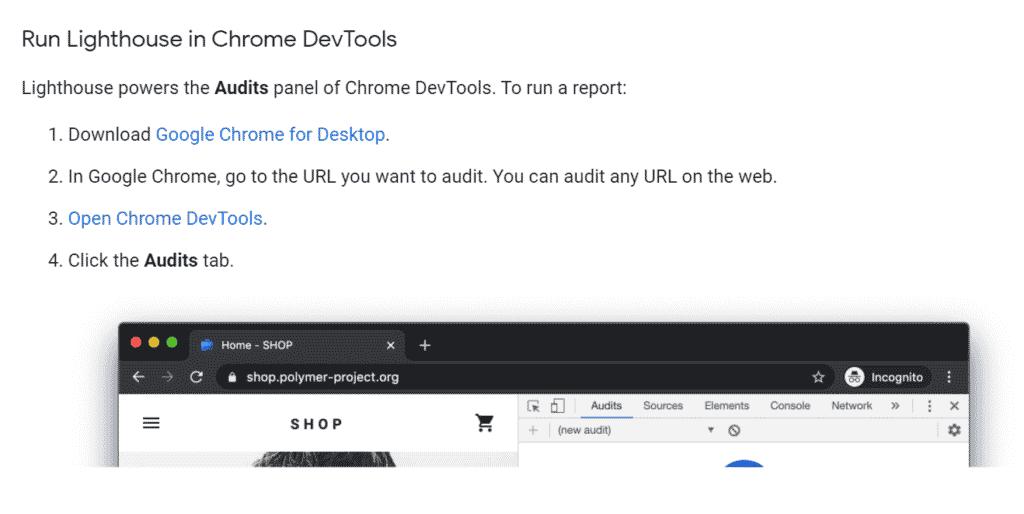 Google Lighthouse Website Optimization Tool