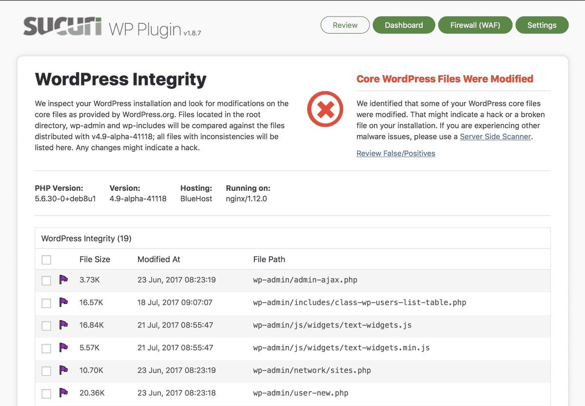Plugin di sicurezza per WordPress Sucuri