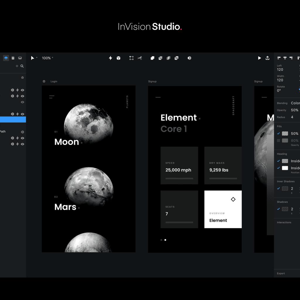 Invision UX Tool