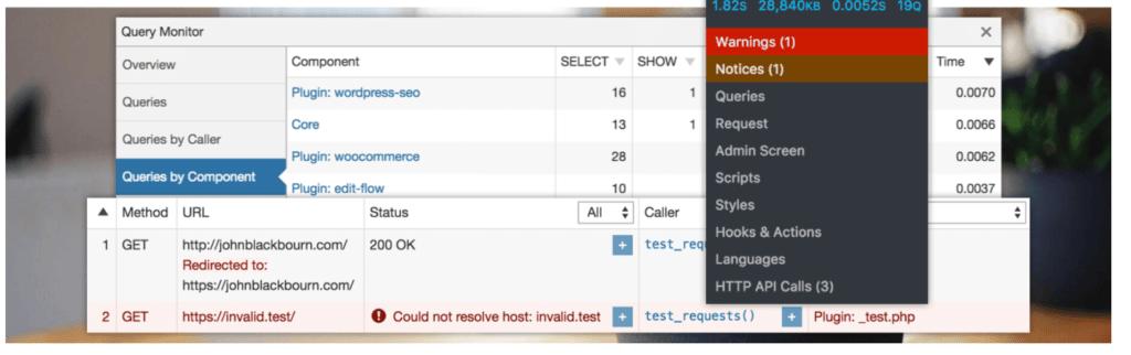 Wordpress Plugin Query Monitor