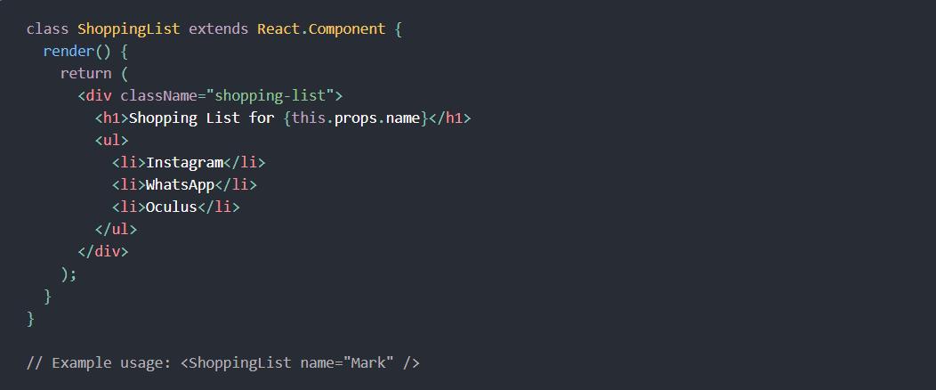 React JavaScript Library