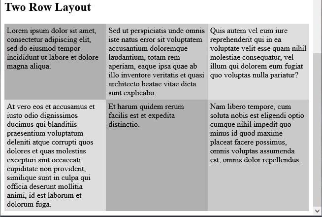 Codice di esempio CSS Flexbox