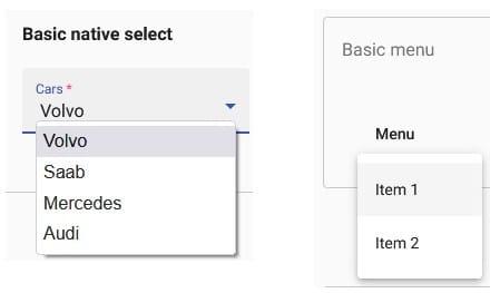 JavaScript MatMenu with Checkboxes