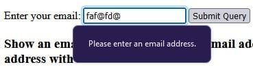 Convalida delle e-mail nei moduli Web